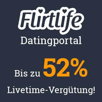 Bis zu 52% Lifetimevergütung bei FlirtLife!