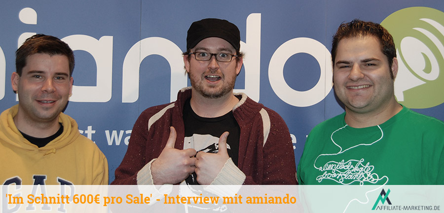 Felix Haas (CEO), Günther Giani (Affiliate-Marketing.de), Timon Hartung (amiando Affiliate-Manager)